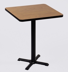 """Corell Breakroom Table -36"""" x 36"""" x 42"""" with 30"""" X-Base/Column -BXB36S"""
