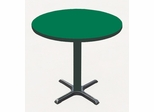 "Corell Breakroom Table -42"" Round x 29"" Tall with 33"" X-Base/Column -BXT42R"