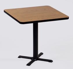 """Corell Breakroom Table -42"""" x 42"""" x 29"""" with 33"""" X-Base/Column -BXT42S"""