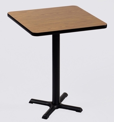 """Corell Breakroom Table -42"""" x 42"""" x 42"""" with 33"""" X-Base/Column -BXB42S"""