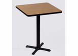 "Corell Breakroom Table -42"" x 42"" x 42"" with 33"" X-Base/Column -BXB42S"
