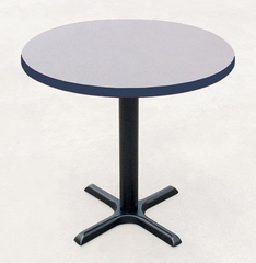 """Corell Breakroom Table -48"""" Round x 29"""" Tall with 33"""" X-Base/Column -BXT48R"""