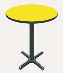 """Corell Breakroom Table -48"""" Round x 42"""" Tall with 33"""" X-Base/Column -BXB48R"""