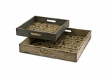 Corinne Square Serving Trays (Set of 2) - IMAX - 12946-2