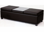 Corner Limited Paris Storage Ottoman Bench with Tray