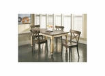 Coronado 5 Piece Dining Set - Rectangular Table and 4 Side Chairs - Largo - LARGO-ST-D210-30-43C-SET