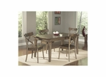 Coronado Rectangular Shaped Leg Table with 4 Side Chairs - Largo - LARGO-ST-D210-31-43C-SET