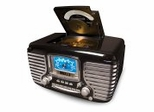 Corsair AM/FM Clock Radio - Crosley - CR612-BK