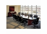 Corsica Conference Tables in Mahogany by Mayline Office Furniture