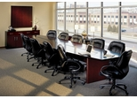 Corsica Executive Conference Room Package in Mahogany - Mayline Office Furniture