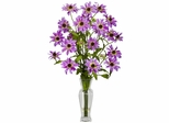 Cosmos with Vase Silk Flower Arrangement - Nearly Natural - 1172-PP
