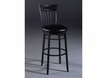 Counter Bar Stool - Cottage Swivel Counter Stool in Rubbed Black - 4366-826