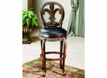 Counter Bar Stool - Fleur De Lis Triple Leaf Counter Stool - 62969