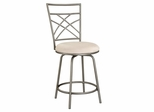 Counter Stool - Antique Gold Accented Pewter - Powell Furniture - 600-430