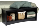 Cubbie Bench in Black - Sonoma Collection - Prepac Furniture - BSC-4820