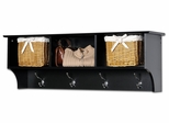Cubbie Shelf for Entryway in Black - Sonoma Collection - Prepac Furniture - BEC-4816