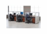 Cubicle Systems - Rize Panel System with Privacy Stations - OFM
