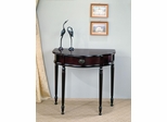 Curved Entry Table with Front Storage Drawer in Cherry - 950065