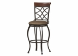 Curves Counter Bar Stool - Linon Furniture - 02728MTL-01-KD-U