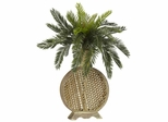 Cycas with Decorative Vase Silk Plant - Nearly Natural - 6663