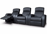 Cyrus Contemporary Leather Theater Seating - 600001x3