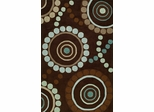 Dalyn Studio Chocolate Circles Area Rug - SD44CH