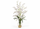 Dancing Lady Liquid Illusion Silk Flower Arrangement in White - Nearly Natural - 1073-WH