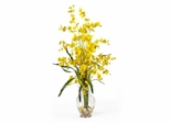 Dancing Lady Liquid Illusion Silk Flower Arrangement in Yellow - Nearly Natural - 1073-YL