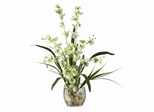 Dancing Lady Orchid Liquid Illusion Silk Flower Arrangement in Green - Nearly Natural - 1119-GR
