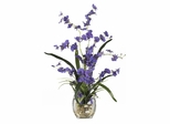 Dancing Lady Orchid Liquid Illusion Silk Flower Arrangement in Purple - Nearly Natural - 1119-PP