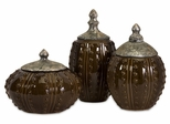 Darcy Hobnail Canisters (Set of 3) - IMAX - 81007-3