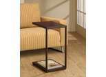 Dark Brown Rectangular Snack Table - 901007