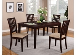 Dark Cherry Dining Set with 4 Chairs - 103341