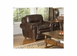 Dawson Dark Walnut Leather Club Chair - Largo - LARGO-ST-F2455-403