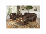Dawson Dark Walnut Leather Sofa and Chair Set - Largo - LARGO-WG-F2455-401-403-SET