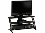 Deco Panel TV Stand Black / Black - Sauder Furniture - 408559