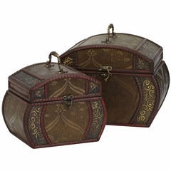 Decorative Chests (Set of 2) - Nearly Natural - 0528