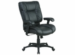 Deluxe Mid Back Executive Leather Chair - Office Star - EX9381