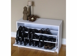 Deluxe Single Shoe Cabinet in White - 4D Concepts - 76457