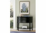 "Demilune Console Table in ""Antique Black"" with Sand Through Terra Cotta - Powell Furniture - 502-515"
