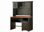 Desk and Hutch in Spice Wood/Ebony - South Shore Furniture - 7378-DH