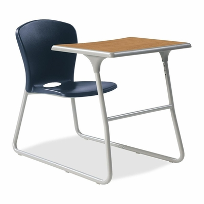 Desk/Chair Combo - Navy Blue chair and Titanium steel frame - HONCL71HPBCC91C