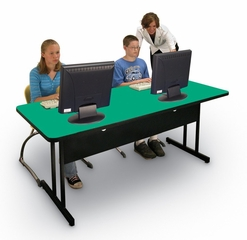 """Desk Height Computer Table 30"""" x 48"""" - Correll Office Furniture - WS3048"""