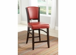 "Dining 1036 25"" Counter Stool in Red - Set of 2 - 103689RED"