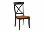 Dining Chair (Set of 2) in Black / Cottage Oak - Home Styles - 5168-802