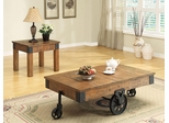 Distressed 2PC Coffee and End Table Set - 701457