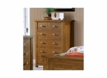 Distressed Chestnut Outback 6 Drawer Chest - Hillsdale