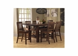 Distressed Chestnut Outback 7-Piece Counter Height Dining Set - Hillsdale