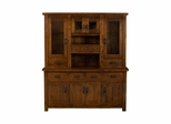Distressed Chestnut Outback Buffet And Hutch - Hillsdale