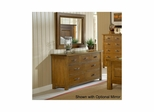 Distressed Chestnut Outback Split 7 Drawer Dresser - Hillsdale